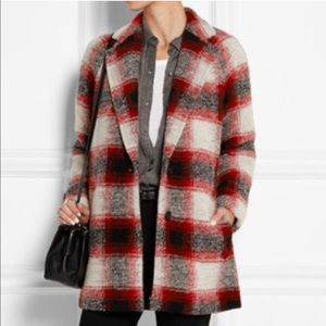 Madewell Depot Cocoon Plaid Check Wool Coat